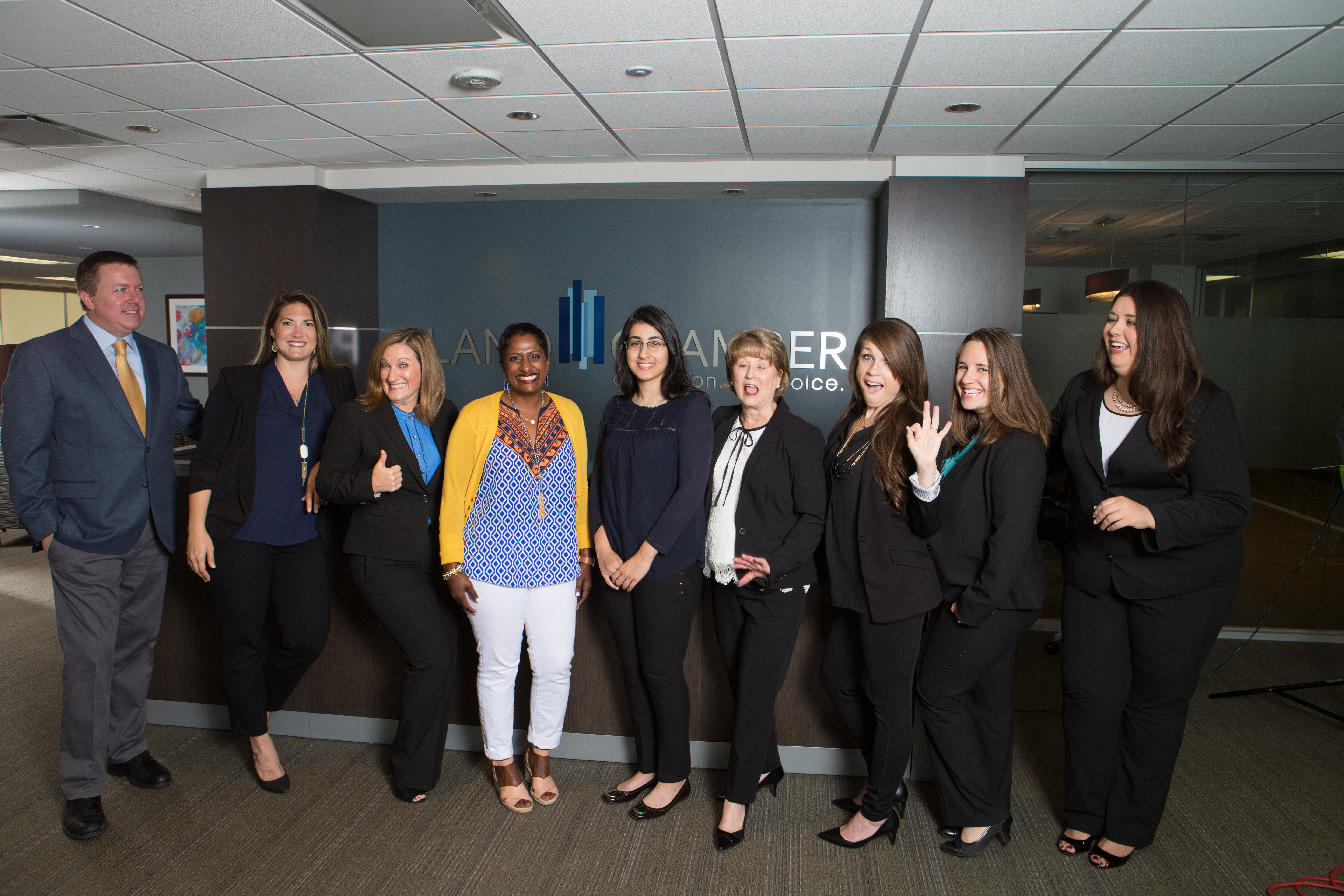 The Chamber Staff with Extern Alice Micheal and Intern Supriya Anand