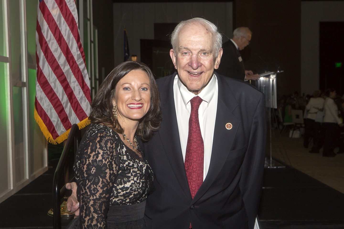 Congressman Sam Johnson and Plano Chamber President/CEO Jamee Jolly at the 2014 Best of Plano awards ceremony.